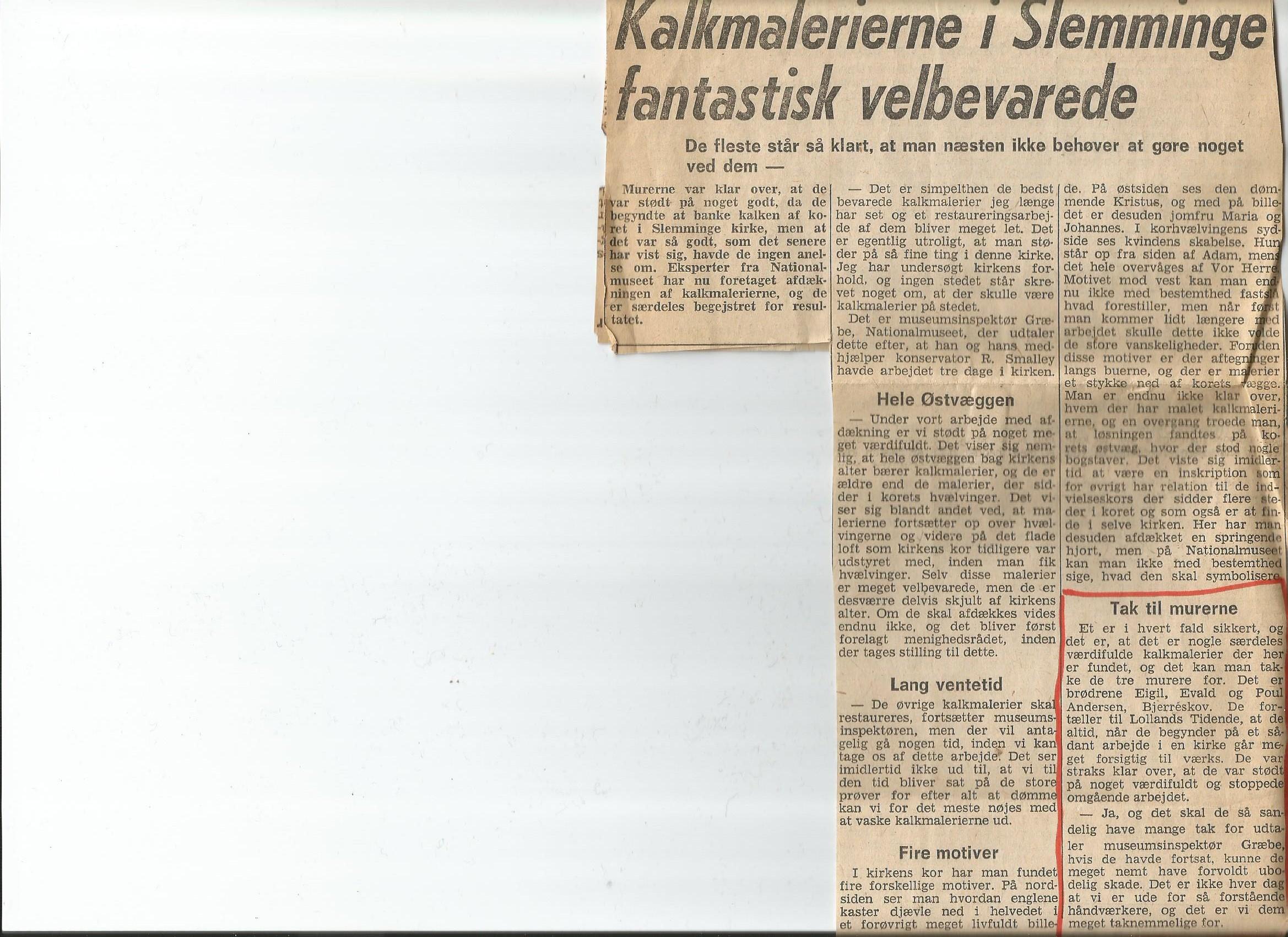 Artikel i Ny Dag 1968
